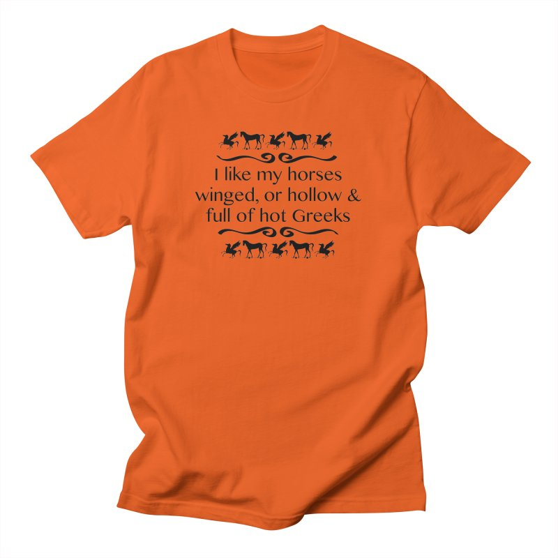 Greek Horses **LAST CHANCE** Men's T-Shirt by Let's Talk About Myths, Baby! Merch Shop
