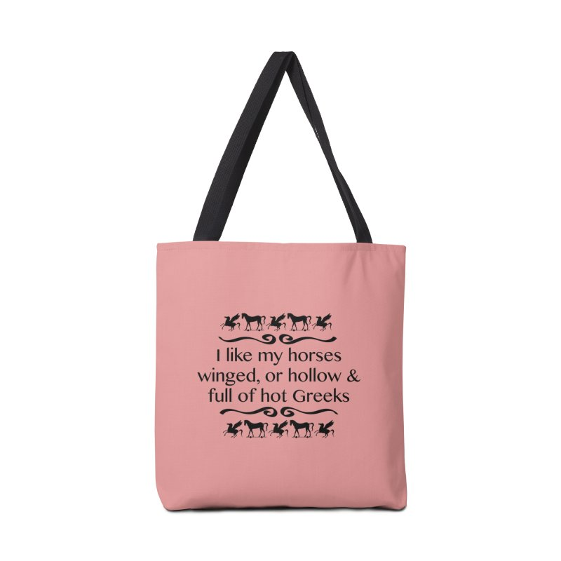 Greek Horses **LAST CHANCE** Accessories Bag by Let's Talk About Myths, Baby! Merch Shop