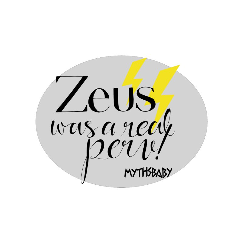 Zeus Was a Real Perv **LAST CHANCE** Women's V-Neck by Let's Talk About Myths, Baby! Merch Shop