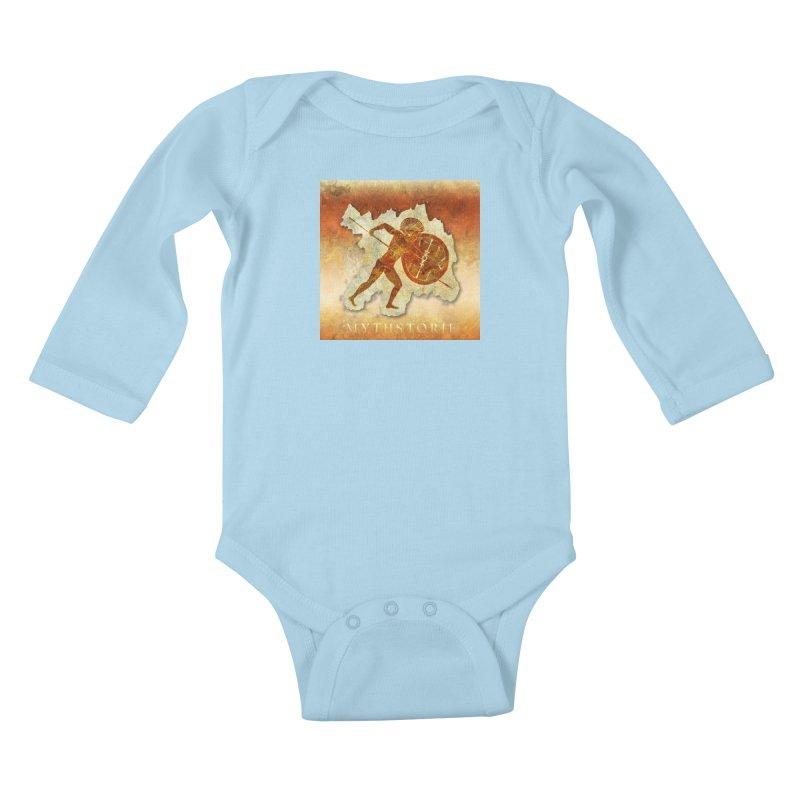 Mythstorie Logo Kids Baby Longsleeve Bodysuit by mythstorie's Artist Shop