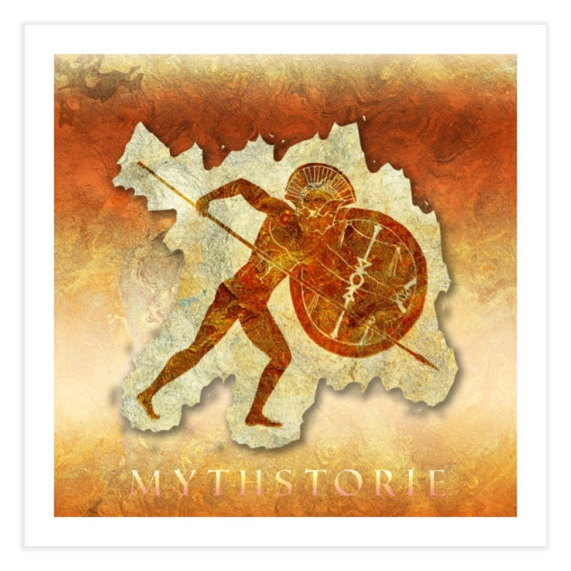 Mythstorie Logo Home Fine Art Print by mythstorie's Artist Shop