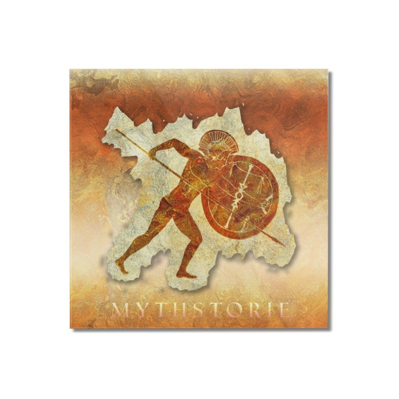 Mythstorie Logo Home Mounted Acrylic Print by mythstorie's Artist Shop