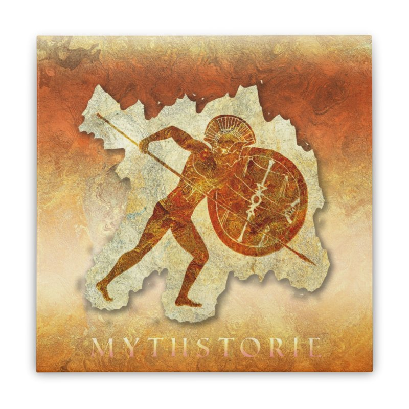 Mythstorie Logo Home Stretched Canvas by mythstorie's Artist Shop