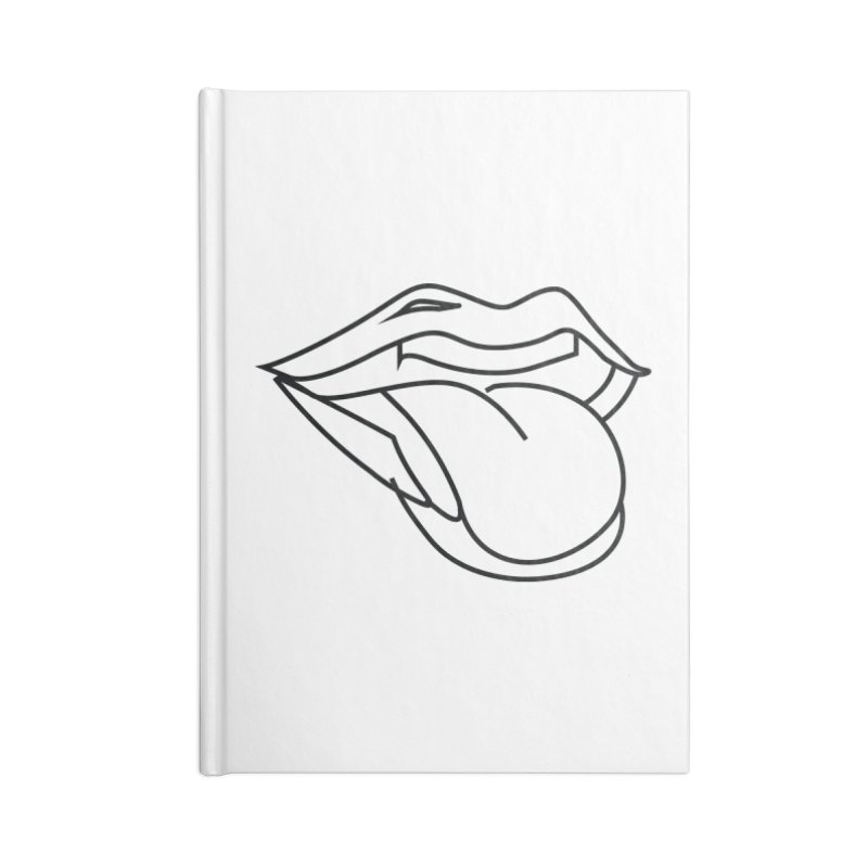 Wasssssssup (Black) Accessories Blank Journal Notebook by MyUmbrella Store