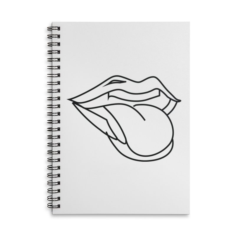 Wasssssssup (Black) Accessories Lined Spiral Notebook by MyUmbrella Store