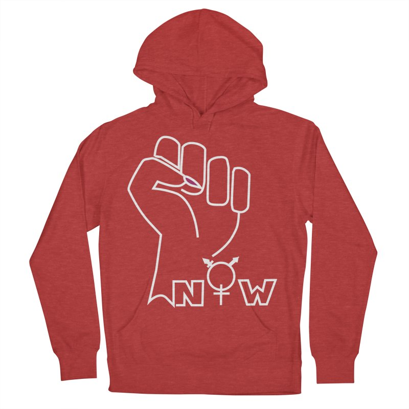 Fist of Change! (White) Women's French Terry Pullover Hoody by MyUmbrella Store