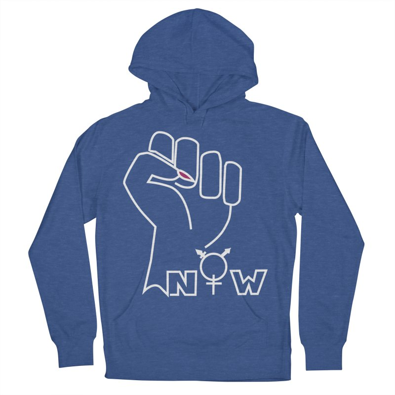 Fist of Change! (White) Men's French Terry Pullover Hoody by MyUmbrella Store