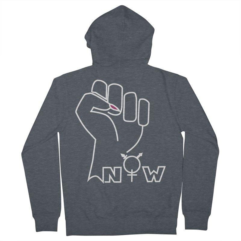 Fist of Change! (White) Women's French Terry Zip-Up Hoody by MyUmbrella Store