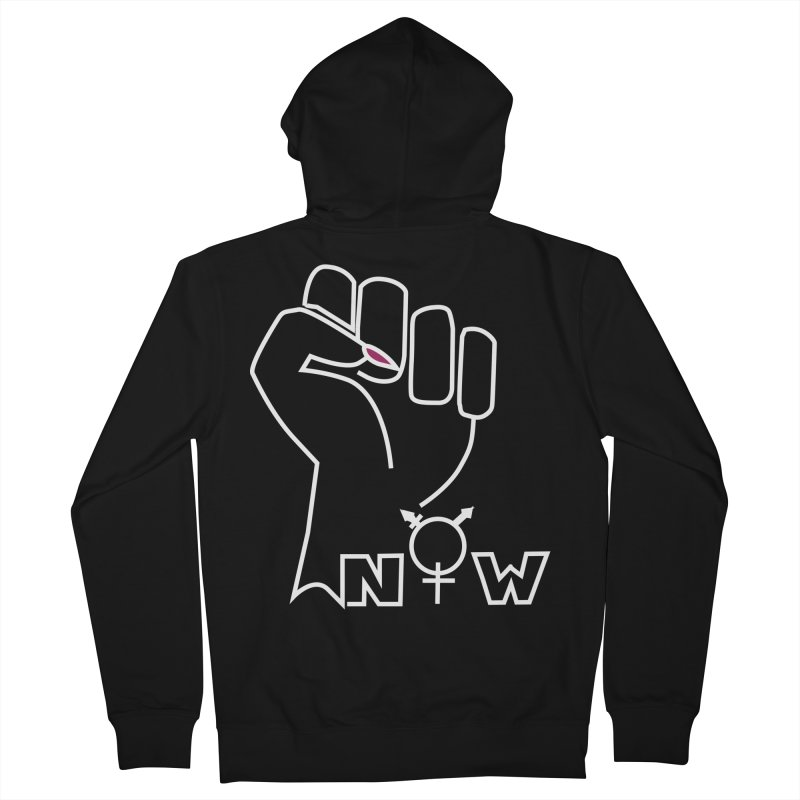 Fist of Change! (White) Men's French Terry Zip-Up Hoody by MyUmbrella Store