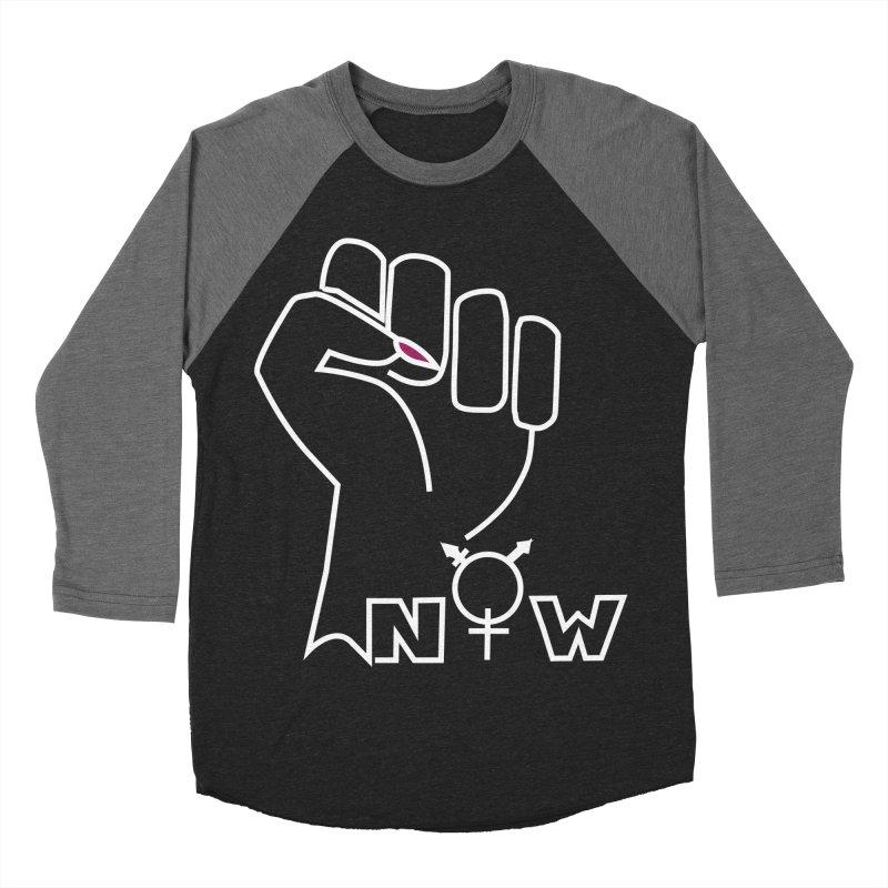 Fist of Change! (White) Women's Baseball Triblend Longsleeve T-Shirt by MyUmbrella Store