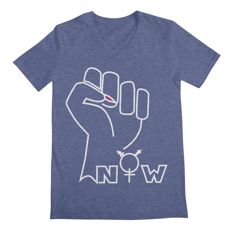 Fist of Change! (White) Men's Regular V-Neck by MyUmbrella Store