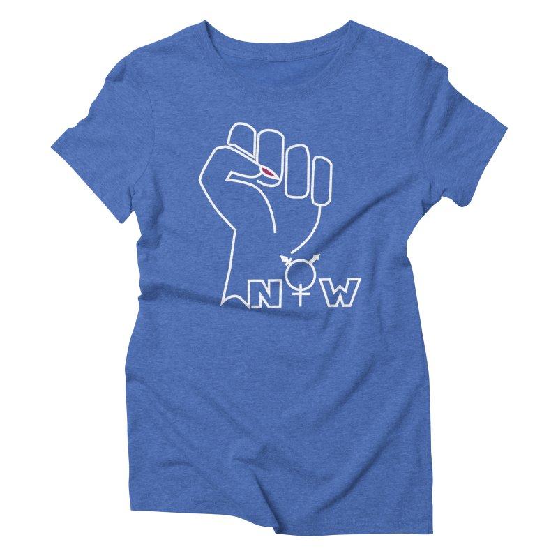 Fist of Change! (White) Women's Triblend T-Shirt by MyUmbrella Store