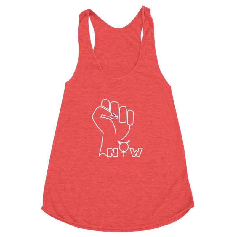 Fist of Change! (White) Women's Racerback Triblend Tank by MyUmbrella Store