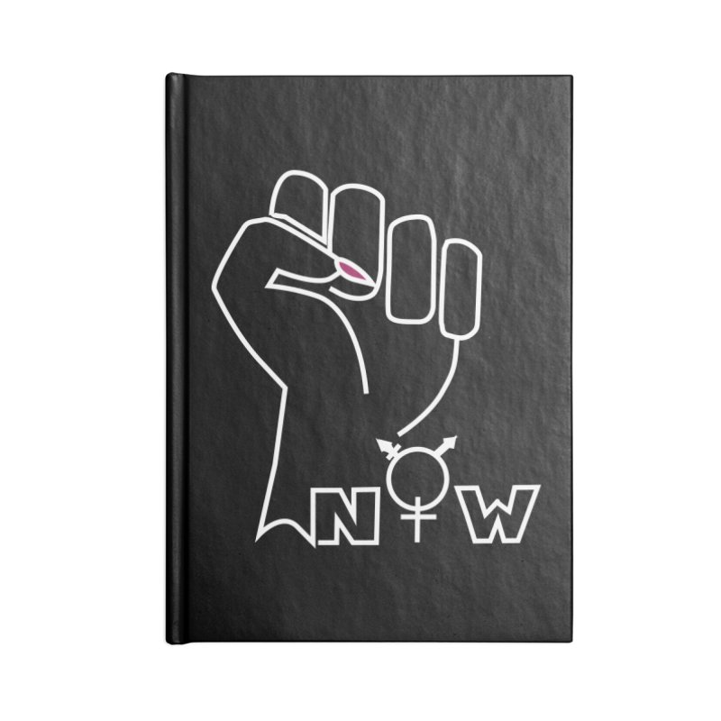 Fist of Change! (White) Accessories Blank Journal Notebook by MyUmbrella Store