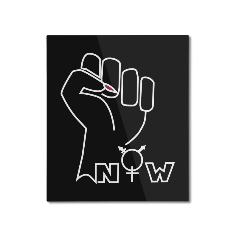 Fist of Change! (White) Home Mounted Aluminum Print by MyUmbrella Store