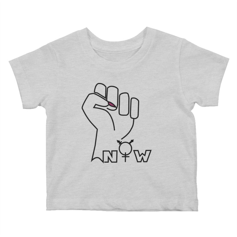 Fist of Change! (White) Kids Baby T-Shirt by MyUmbrella Store