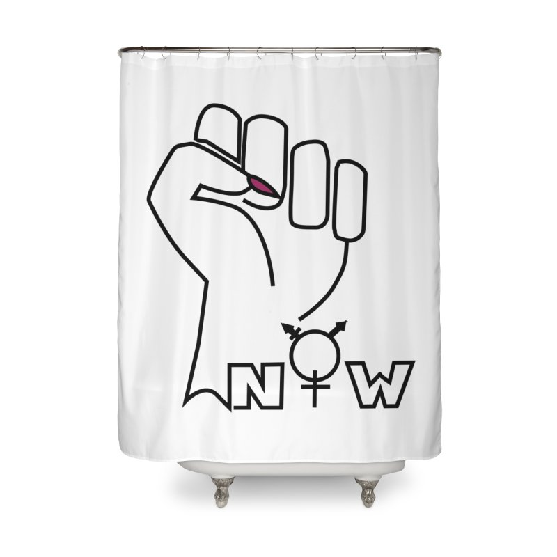 Fist of Change! (White) Home Shower Curtain by MyUmbrella Store