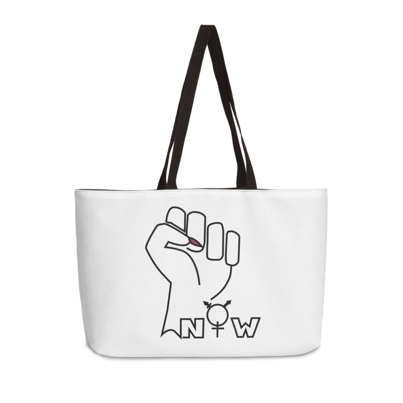 Fist of Change! (White) Accessories Weekender Bag Bag by MyUmbrella Store