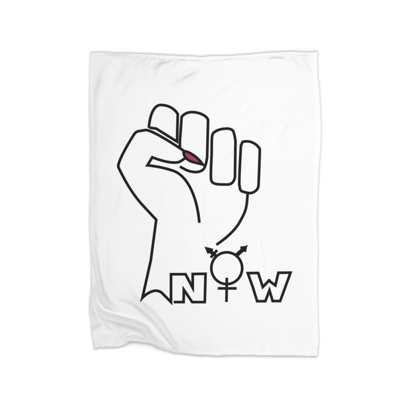Fist of Change! (White) Home Fleece Blanket Blanket by MyUmbrella Store
