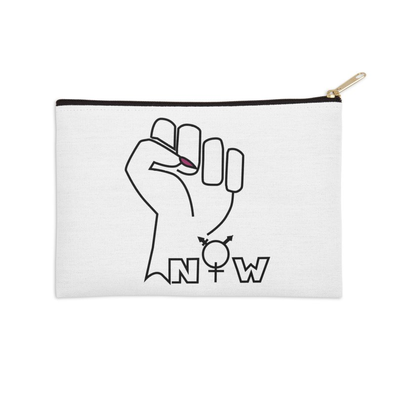Fist of Change! (White) Accessories Zip Pouch by MyUmbrella Store