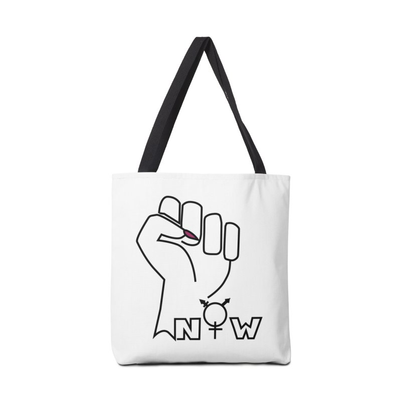 Fist of Change! (White) Accessories Tote Bag Bag by MyUmbrella Store