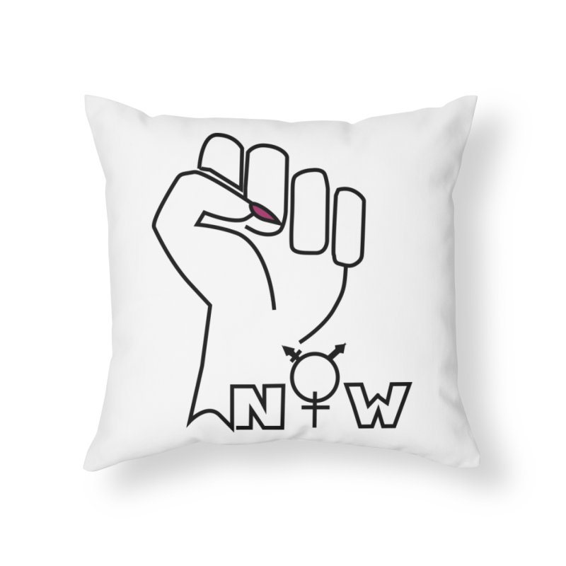 Fist of Change! (White) Home Throw Pillow by MyUmbrella Store