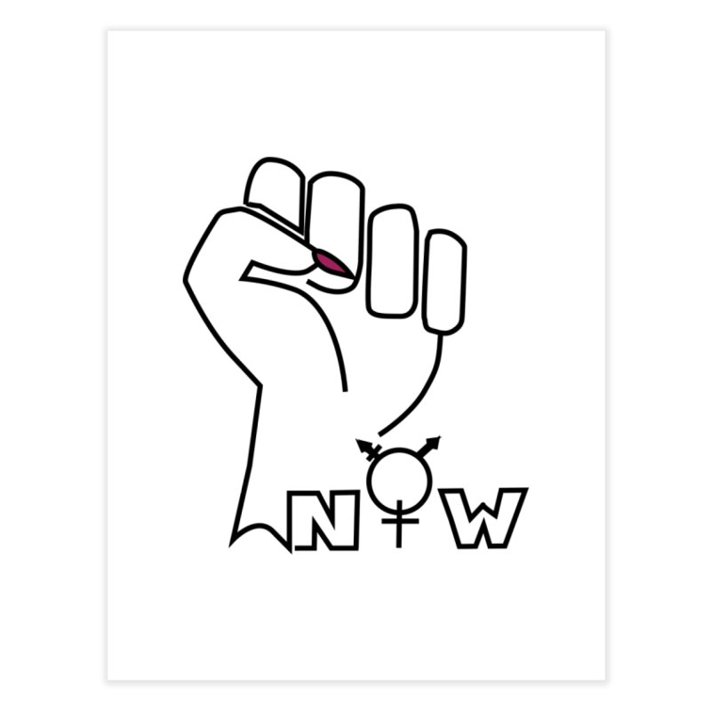Fist of Change! (White) Home Fine Art Print by MyUmbrella Store
