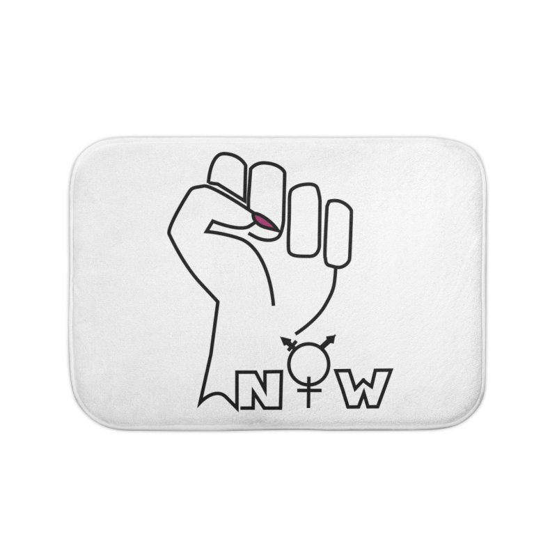 Fist of Change! (White) Home Bath Mat by MyUmbrella Store