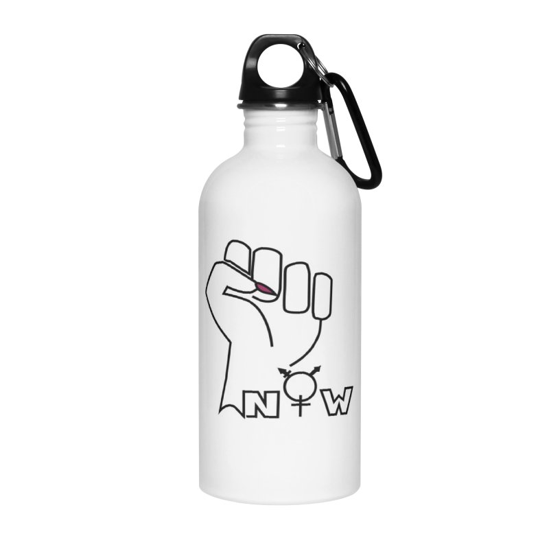 Fist of Change! (White) Accessories Water Bottle by MyUmbrella Store