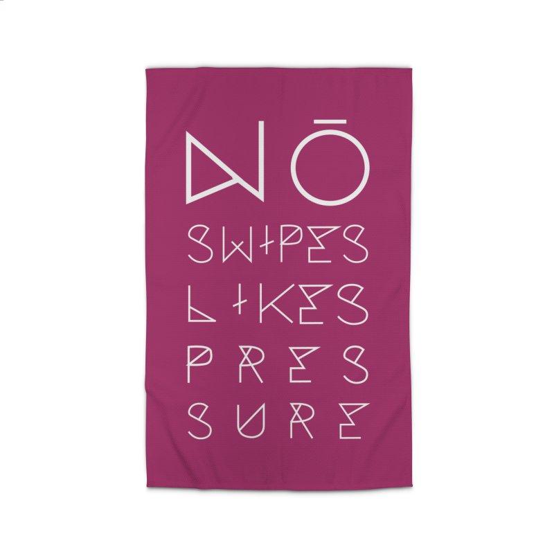 No Swipes. No Likes. No Pressure. (White) Home Rug by MyUmbrella Store