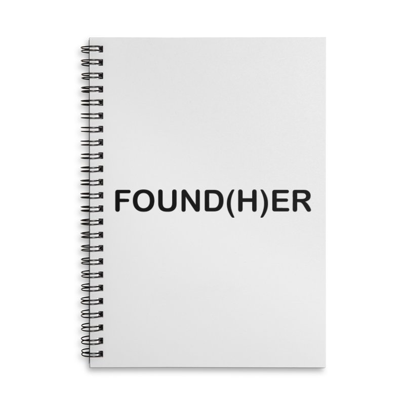 Found(H)ER Accessories Lined Spiral Notebook by MyUmbrella Store