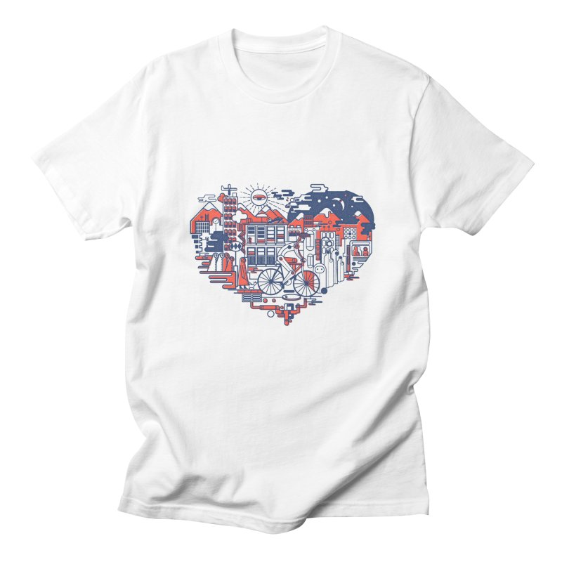 City Love Men's T-shirt by Naedo's Artist Shop