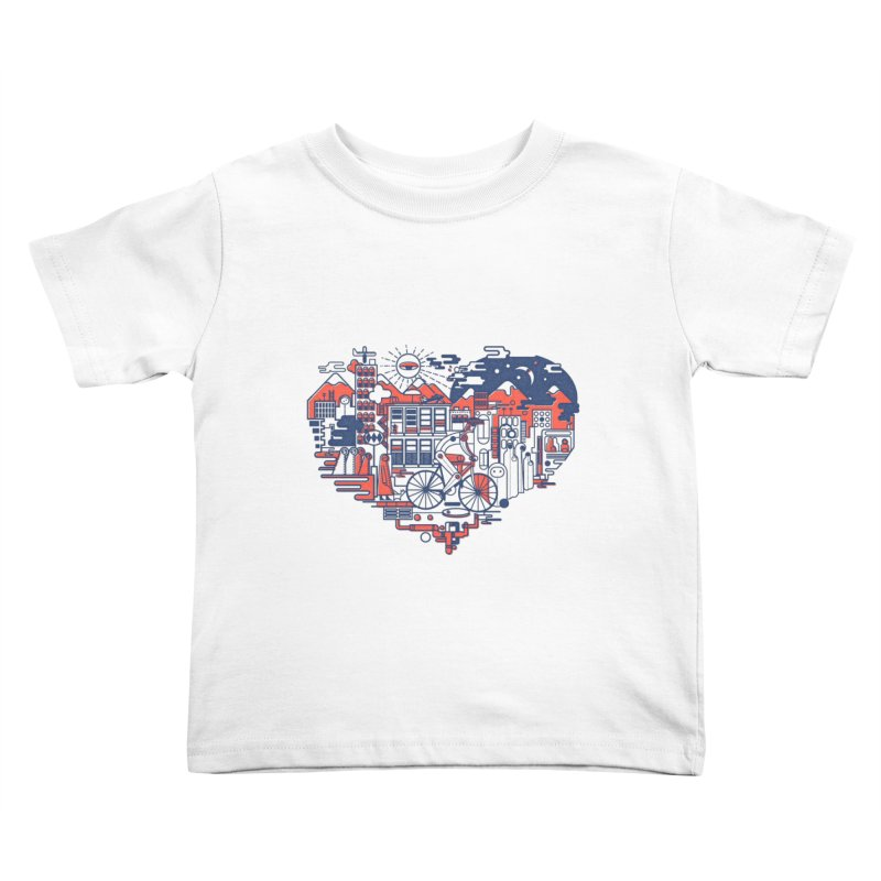 City Love Kids Toddler T-Shirt by Naedo's Artist Shop