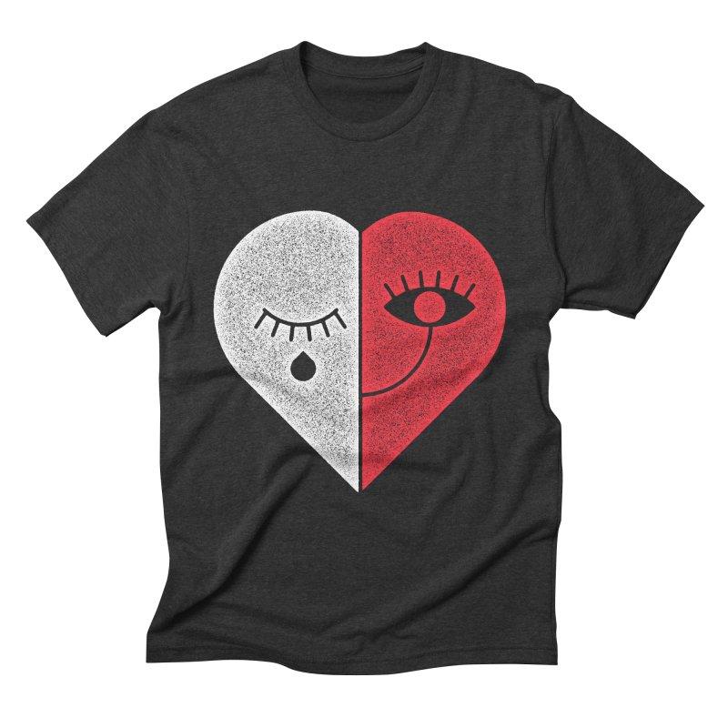 Sad & Happy Men's Triblend T-Shirt by Naedo's Artist Shop