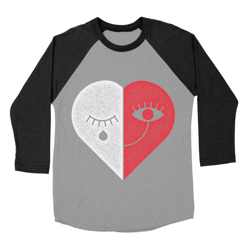 Sad & Happy Women's Baseball Triblend T-Shirt by Naedo's Artist Shop