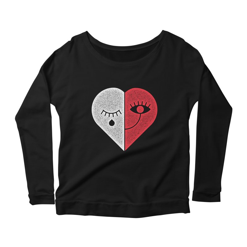 Sad & Happy Women's Longsleeve Scoopneck  by Naedo's Artist Shop