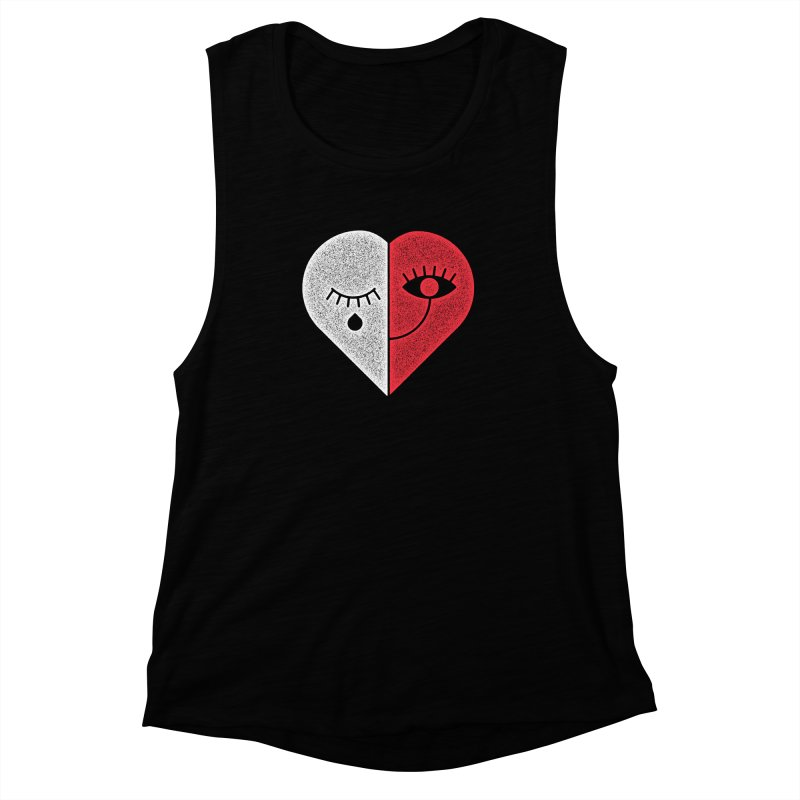 Sad & Happy Women's Muscle Tank by Naedo's Artist Shop