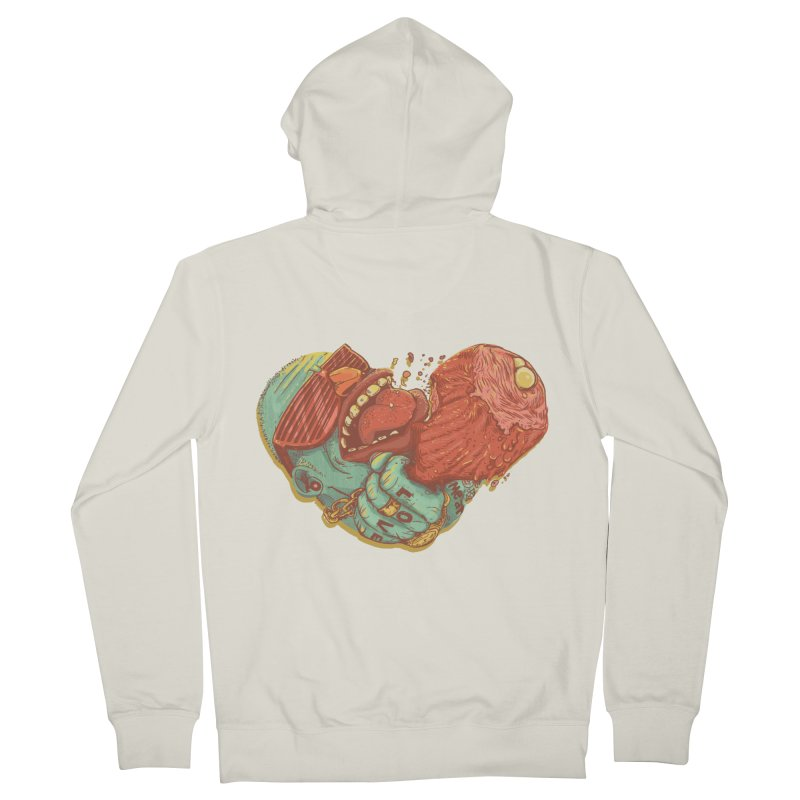Love Meat Women's Zip-Up Hoody by Naedo's Artist Shop