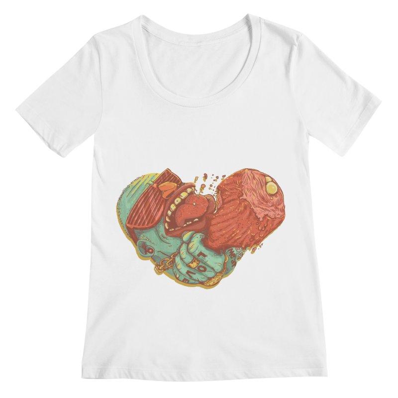 Love Meat Women's Scoopneck by Naedo's Artist Shop