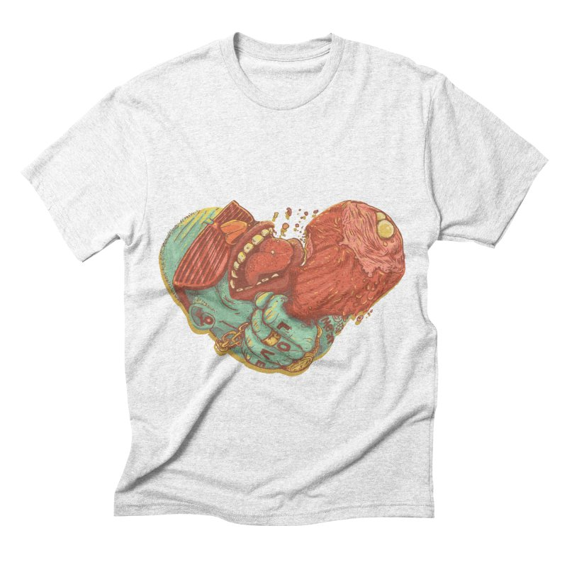 Love Meat Men's Triblend T-shirt by Naedo's Artist Shop