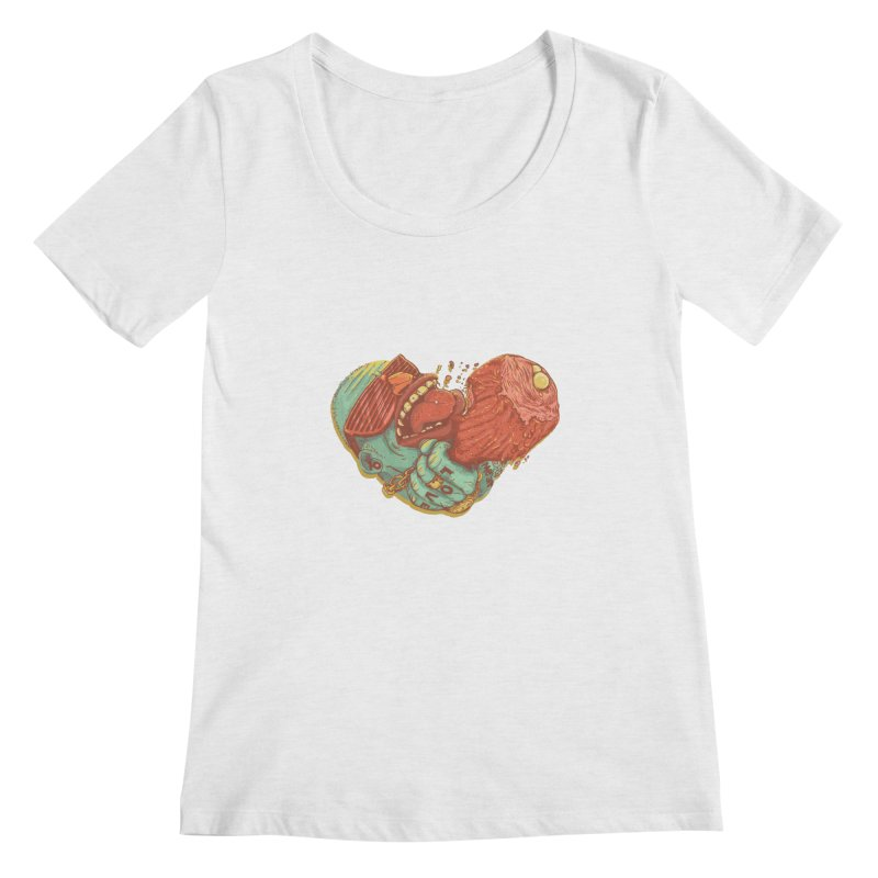 Love Meat Women's Scoopneck by Naedo's Artist Shop