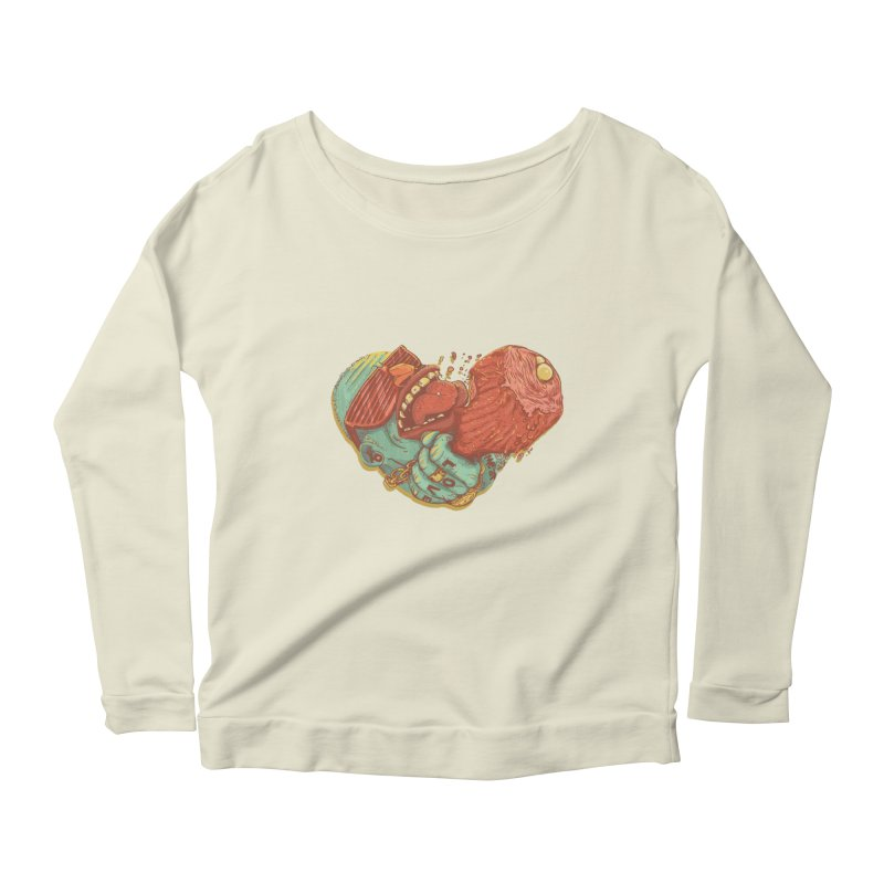 Love Meat Women's Longsleeve Scoopneck  by Naedo's Artist Shop