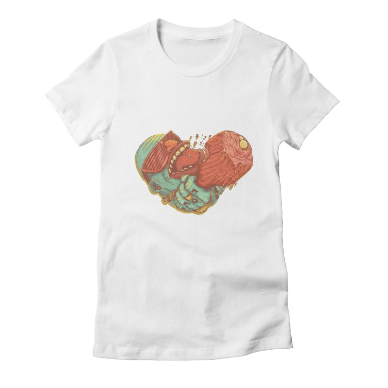 Love Meat Women's Fitted T-Shirt by Naedo's Artist Shop