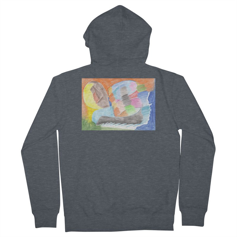 The River Of Life Women's French Terry Zip-Up Hoody by nagybarnabas's Artist Shop
