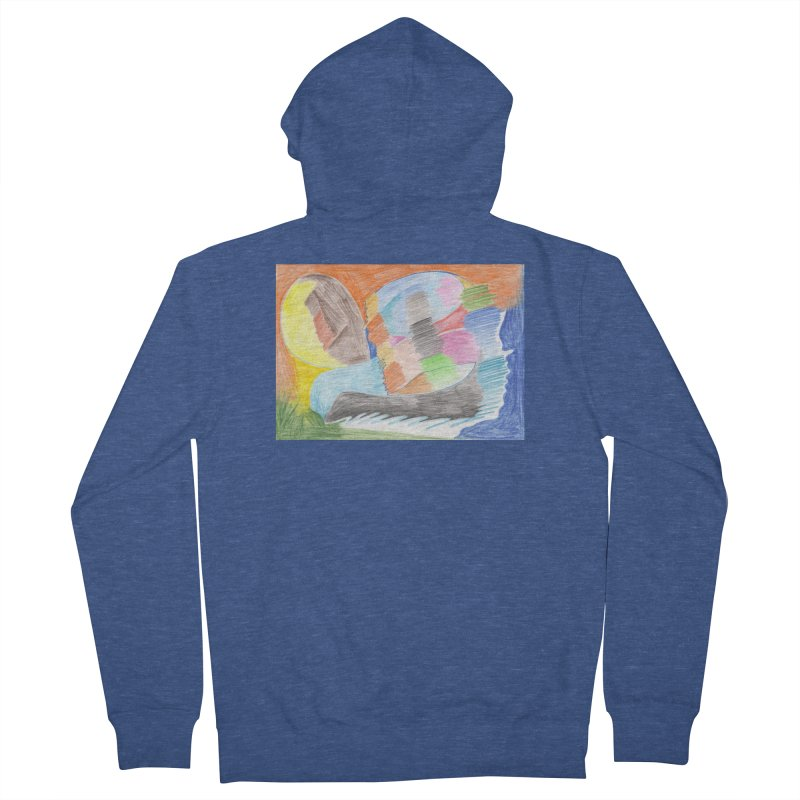 The River Of Life Men's French Terry Zip-Up Hoody by nagybarnabas's Artist Shop