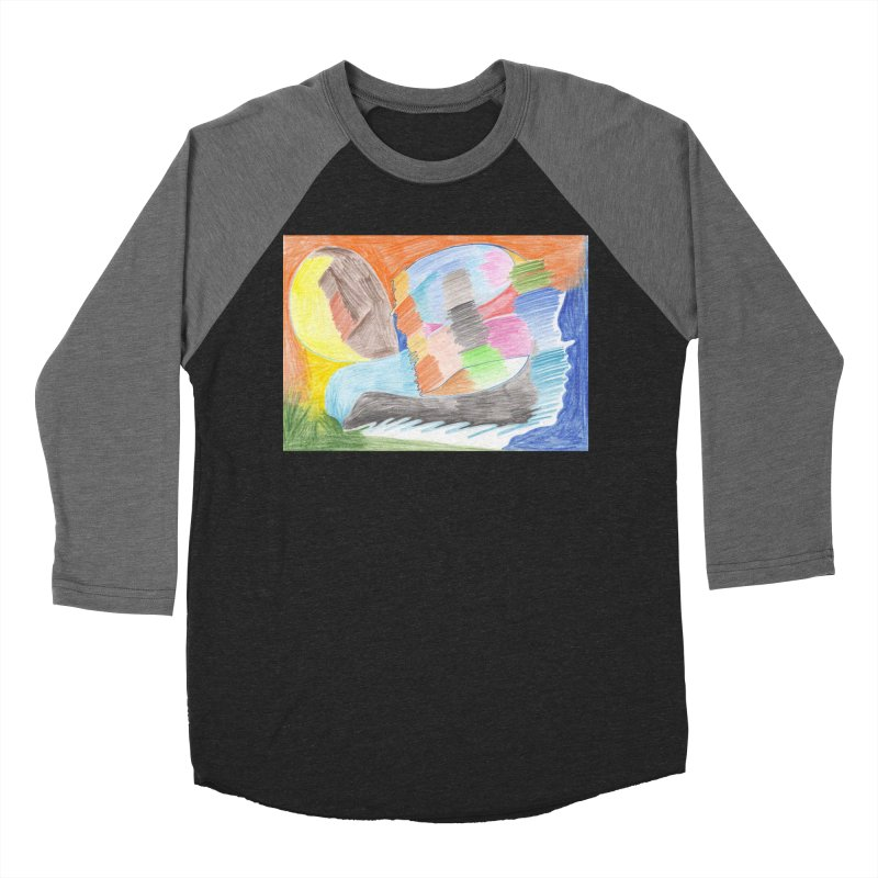 The River Of Life Men's Baseball Triblend Longsleeve T-Shirt by nagybarnabas's Artist Shop