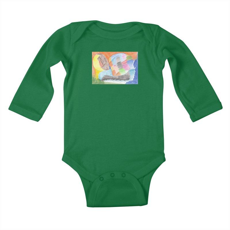 The River Of Life Kids Baby Longsleeve Bodysuit by nagybarnabas's Artist Shop