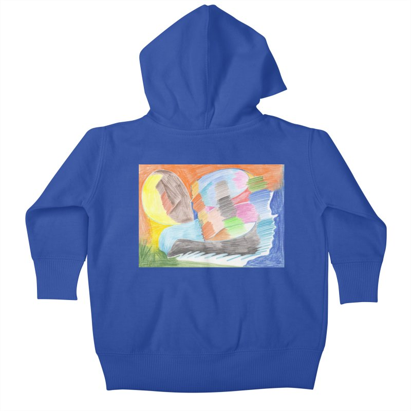 The River Of Life Kids Baby Zip-Up Hoody by nagybarnabas's Artist Shop