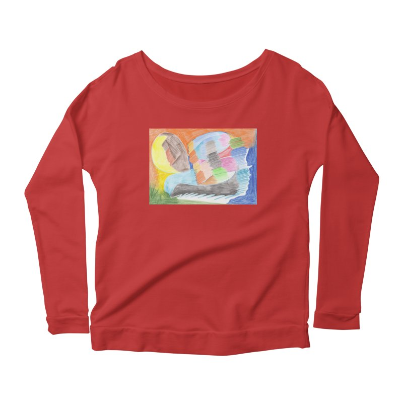 The River Of Life Women's Scoop Neck Longsleeve T-Shirt by nagybarnabas's Artist Shop