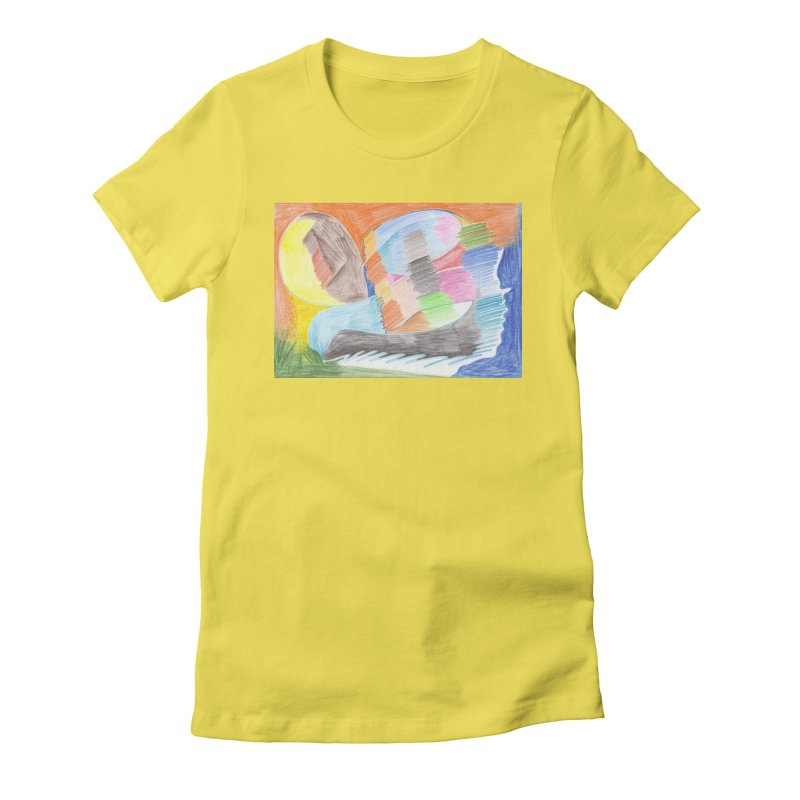 The River Of Life Women's Fitted T-Shirt by nagybarnabas's Artist Shop